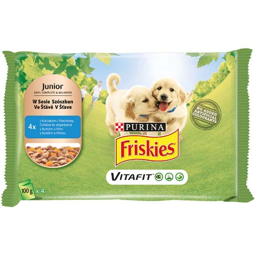 FRISKIES JUNIOR kuře a mrkev 4x100g