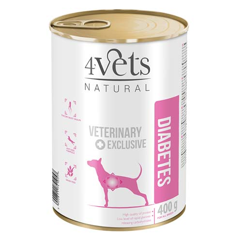 4Vets NATURAL VETERINARY EXCLUSIVE DIABETES 400g pro psy