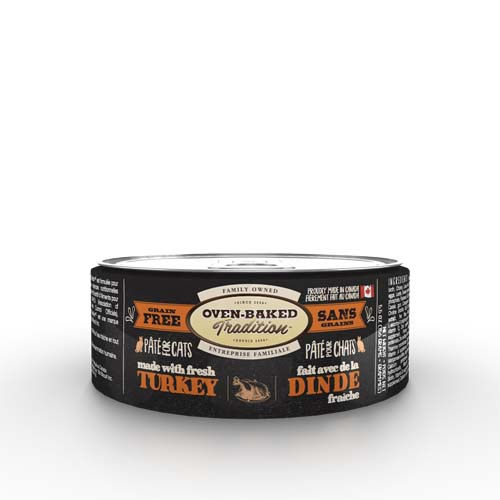 OBT Oven-Baked Tradition Pate TURKEY adult cat 156g krocan