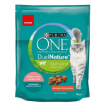PURINA ONE Dual Nature Sterilized s lososem a spirulinou 750g