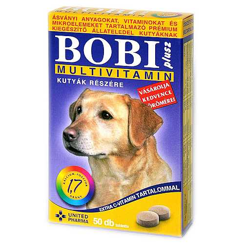 BOBI PLUS tablety multivitamin 50tbl.