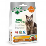 DR. SEIDEL snacks for cats - MIX 2 in 1 for beautiful coat & malt 60g