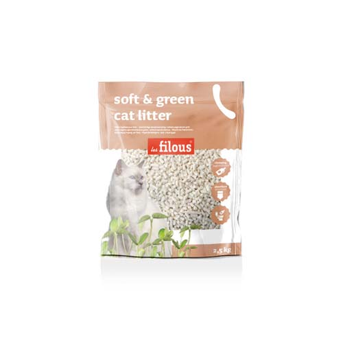 LES FILOUS Soft and green cat litter 2,5kg