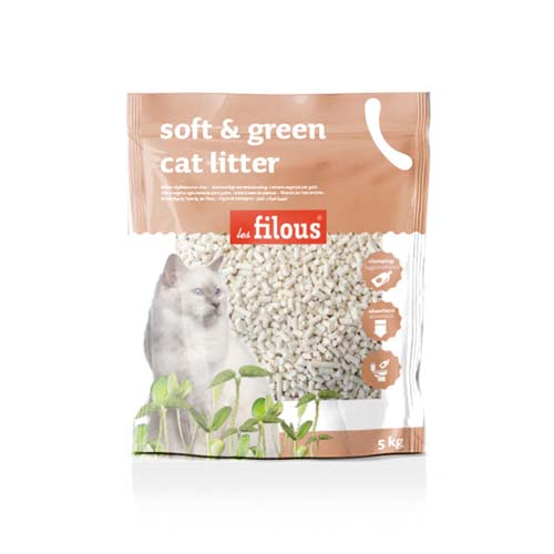 LES FILOUS Soft and green cat litter 5kg