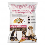 TropiDog Premium Junior Large 500g rich in turkey and rice